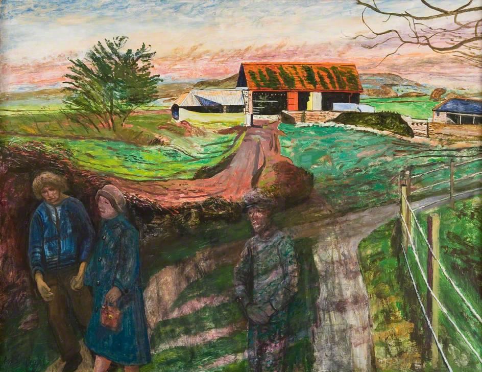 lawrenceleemagnuson:Carel Weight (UK 1908-1997)I Cheer a Dead Man's Sweetheart (1978)oil on board 71 x 91.5cm
