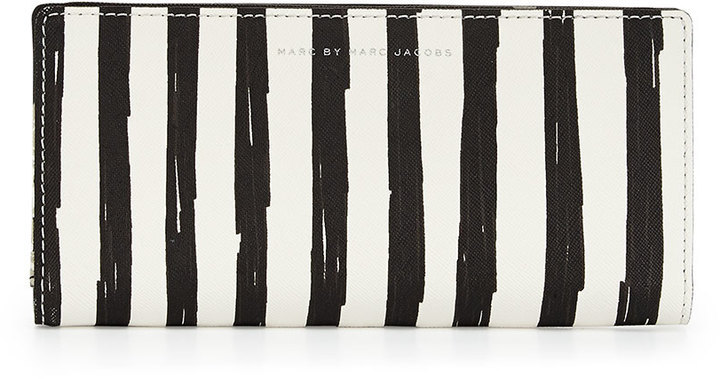 MARC by Marc Jacobs Sophisticato Painted Flower Tomoko Wallet, Black/White by Marc by Marc Jacobs