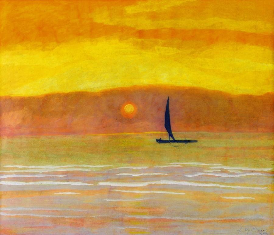 dappledwithshadow:  Sunset, Leon Spilliaert 1922