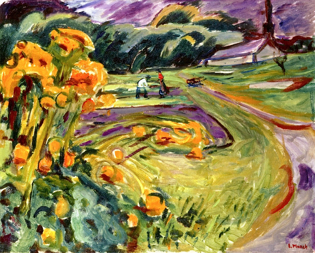 bofransson: Autumn by the GreenhouseEdvard Munch - 1923-1925