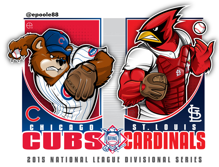 Cubs Vs Cardinals 2015 NLDS Artwork By Epoole88 On