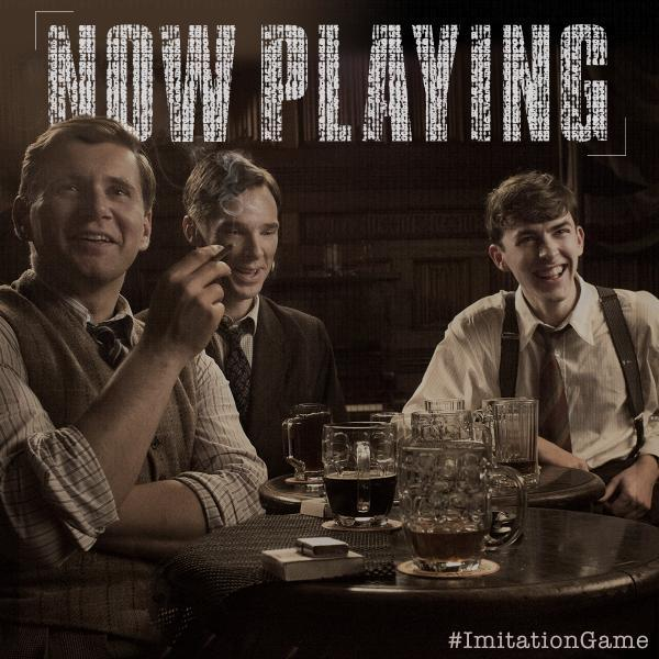 The Imitation Game ‏  Together, they helped achieve the unimaginable. Now playing in select theaters: http://bit.ly/ImitationGameTix …