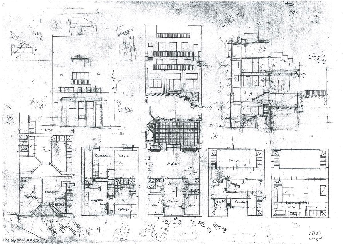 Plans Of Architecture Adolf Loos Tristan Tzara House