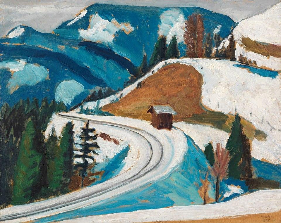 Gabriele Münter (1877-1962) Straßendurchstich im Winter (Naturstudie. Station Berggeist Schnee), 1935