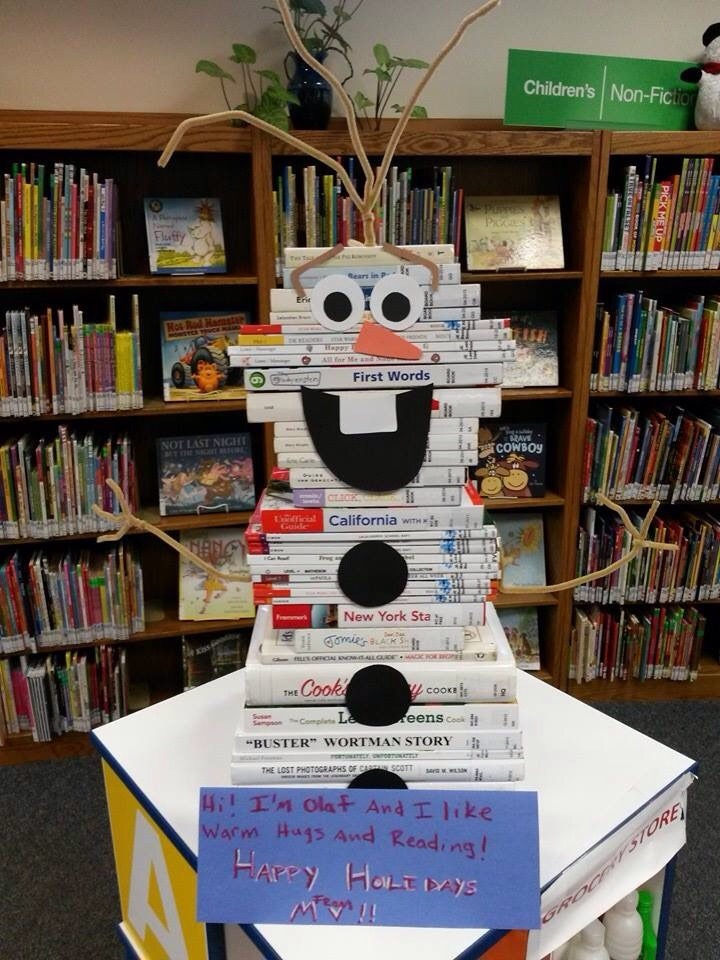 iworkatapubliclibrary:  Happy Holidays from Olaf!  OLAF!!!!!!
