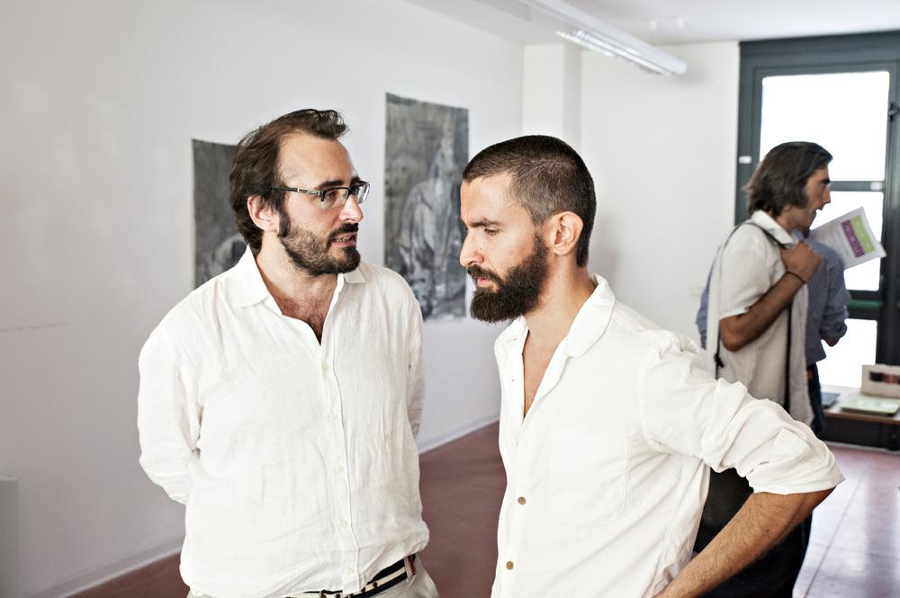 """Lorenzo Bruni & Pietro Gaglianò 16.07.15, OPENING: Massa Carrara """"Ipotenusa. Una mostra irrealizzabile"""" & Livorno """"Imaginary landscape"""" © Francesca Catastini"""