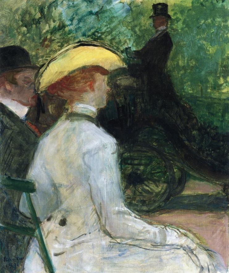 urgetocreate: Henri de Toulouse-Lautrec, In the Bois de Boulogne, 1901