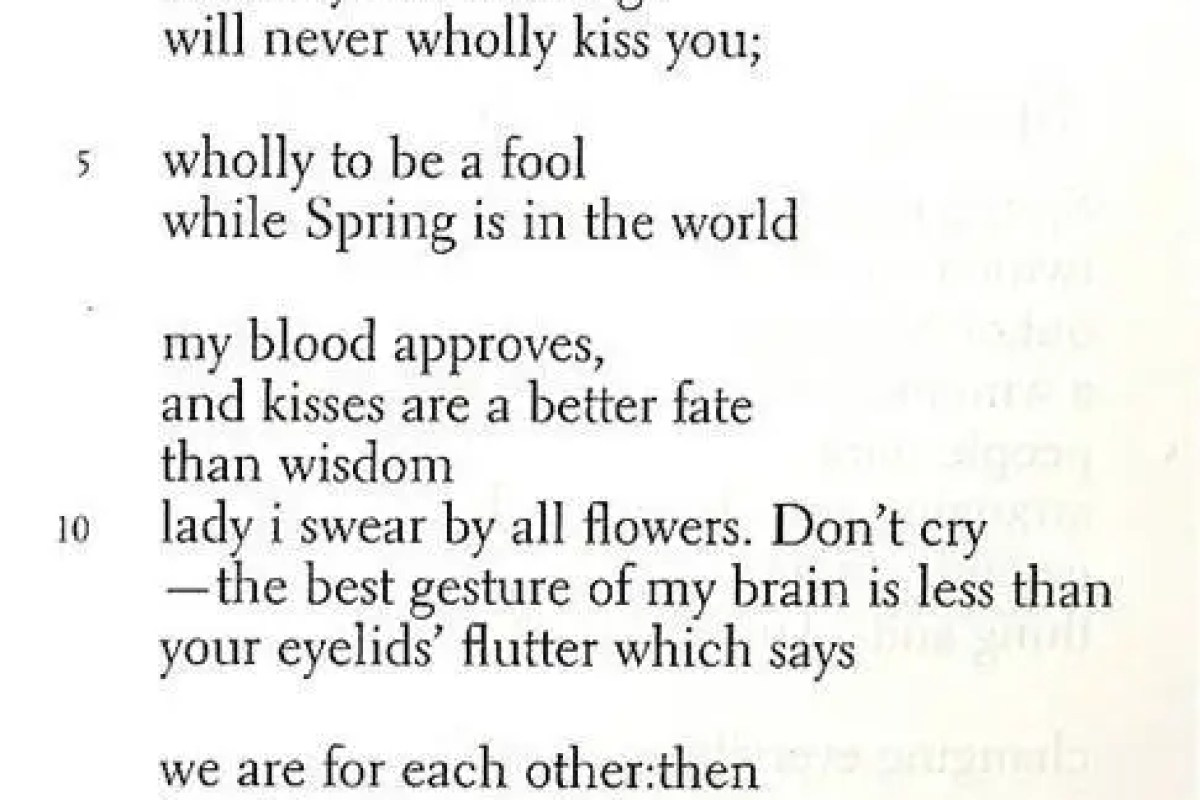 What Does Ee Cummings Suggest About Love In His Poems Since
