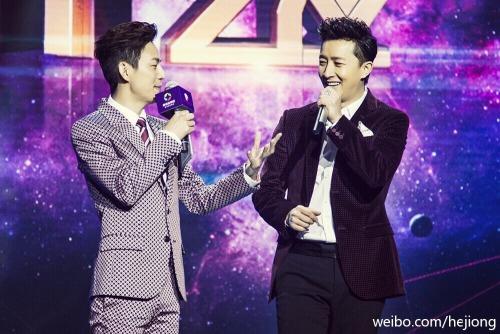 He Jiong the same height as Han Geng?