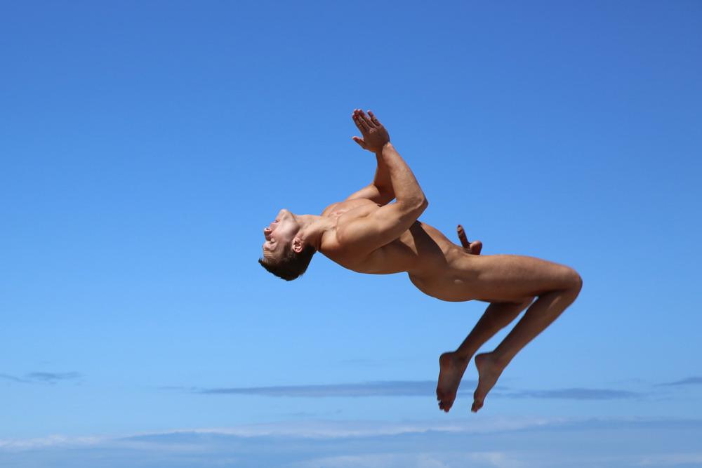 naked jump