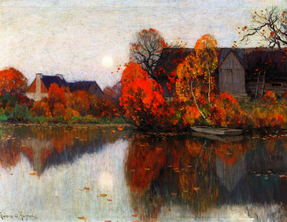 artishardgr:  Clarence Gagnon - The Pond in October 1921
