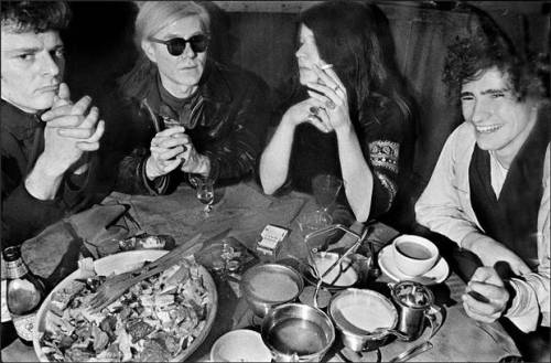 Paul Morrissey, Andy Warhol, Janis Joplin and Tim Buckley, 1969