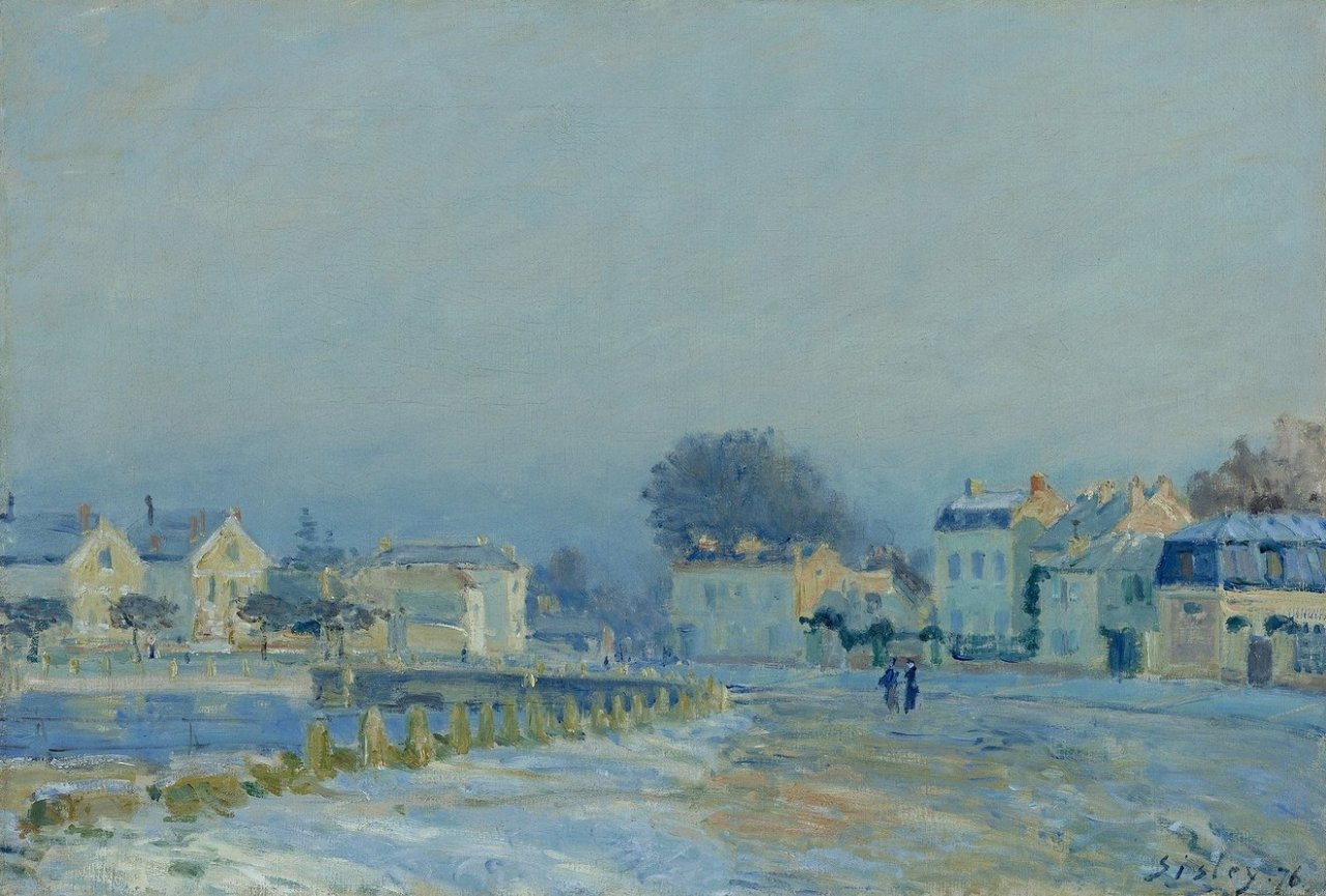 1876 Sisley The Watering Place at Marly Le Roi Hoarfrost(Virginia Museum of Art)