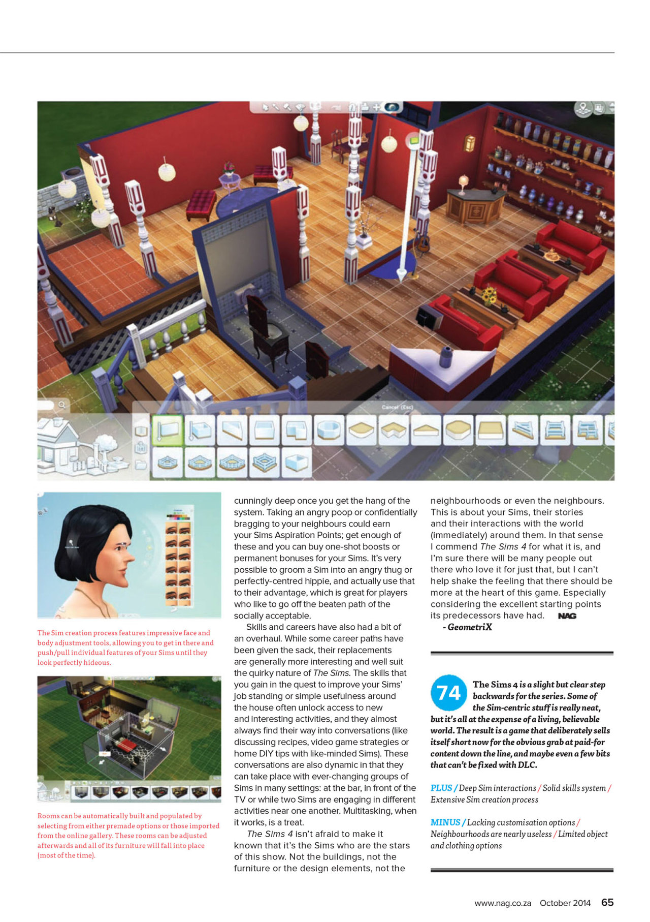 Honeywell S Sims 4 News Blog The Sims 4 Review Nag Rating 74 Cover