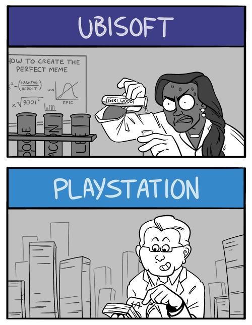 Comic Nintendo Bethesda Square Enix Playstation Microsoft