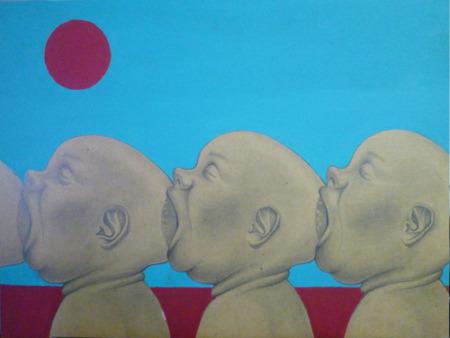 Self sufficient. Acrylic on wood panel. 2011.Work in progressBy Cerqueira Pedro Wordpress   Tumblr