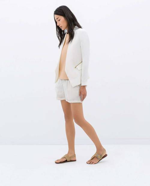 Soft Blazer With Zips