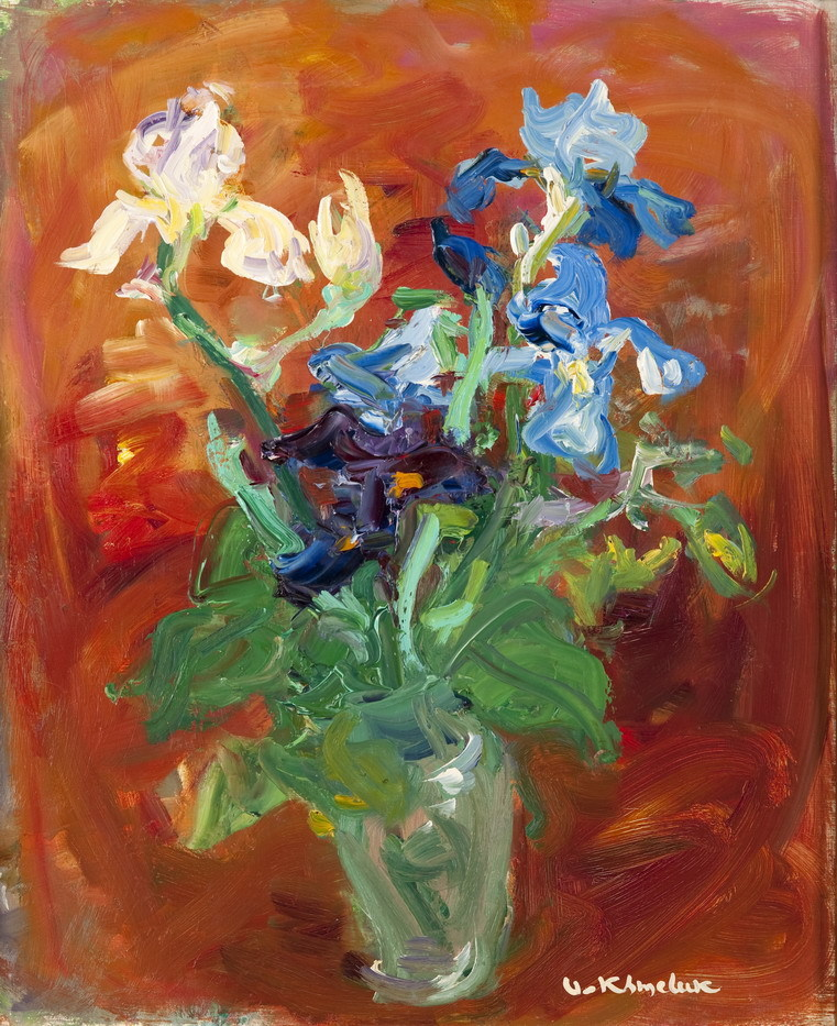 amare-habeo: Vasyl Khmeluk (Ukrainian, 1903-1986) Flowers, N/D Oil on canvas,  65х54 cm