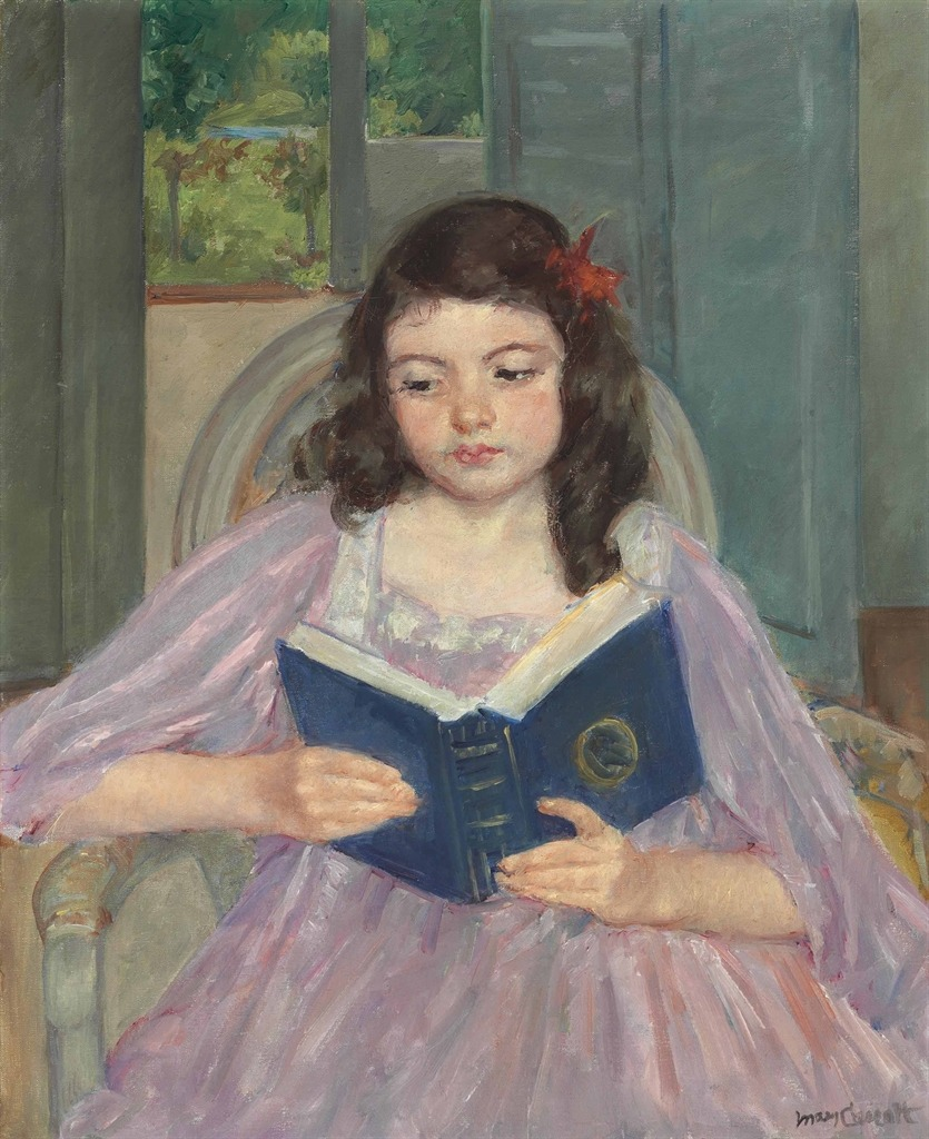 pintoras: Mary Cassatt (American, 1844 - 1926): Françoise in a Round-Backed Chair, Reading (via Christie's)
