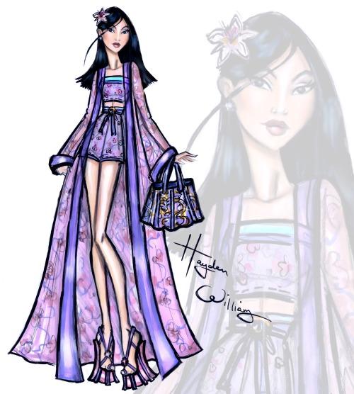 Disney Divas 'Beach Beauties' by Hayden Williams: Mulan