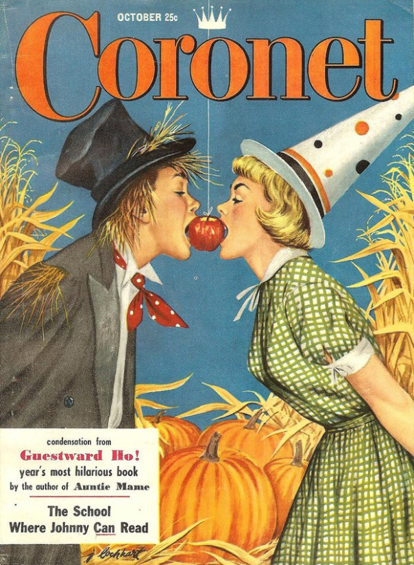 Coronet - October 1954 - cover art by Jim Lockhart