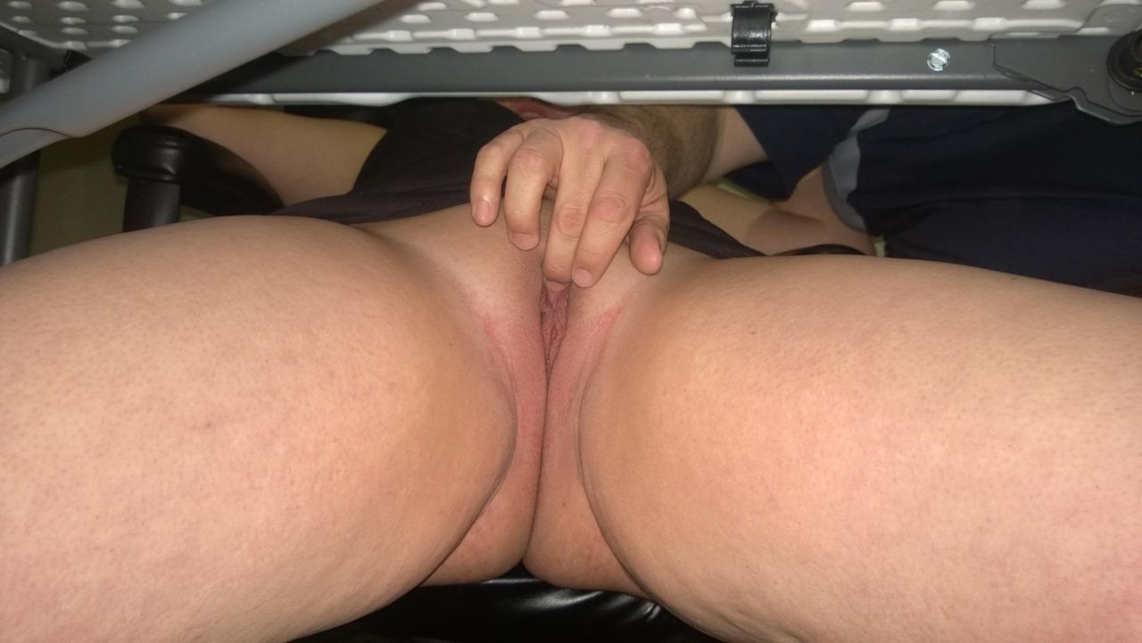 fingering under table