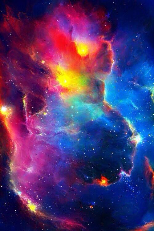trippy space galaxy purple stars Tumblr