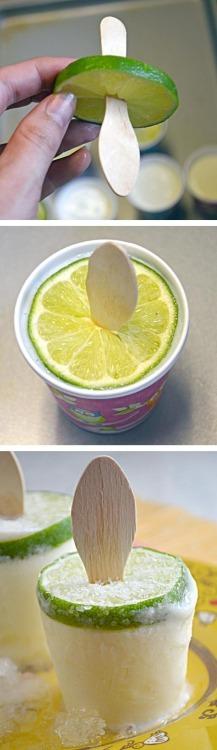 Creamy Margarita Popsicles!