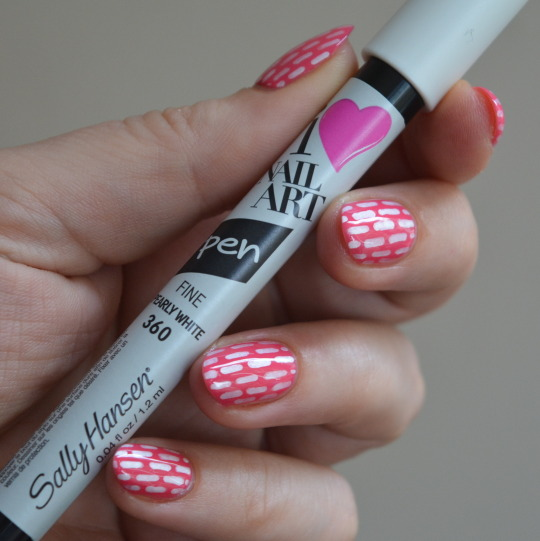 Stripe Nail Art With Sally Hansen Pens Talonted Lex