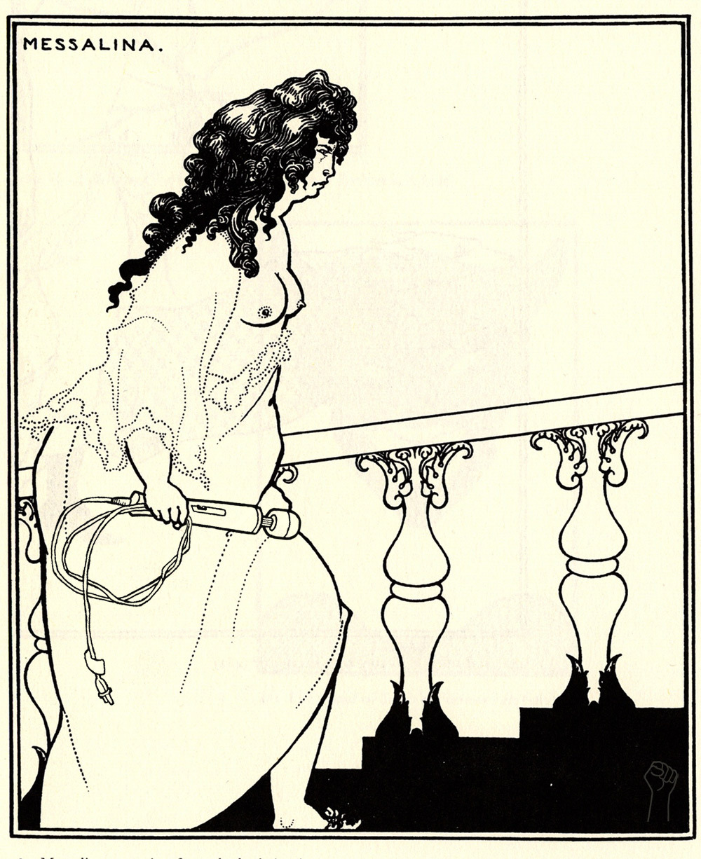 Messalina Returning with Magic Wand by Aubrey Beardsley.