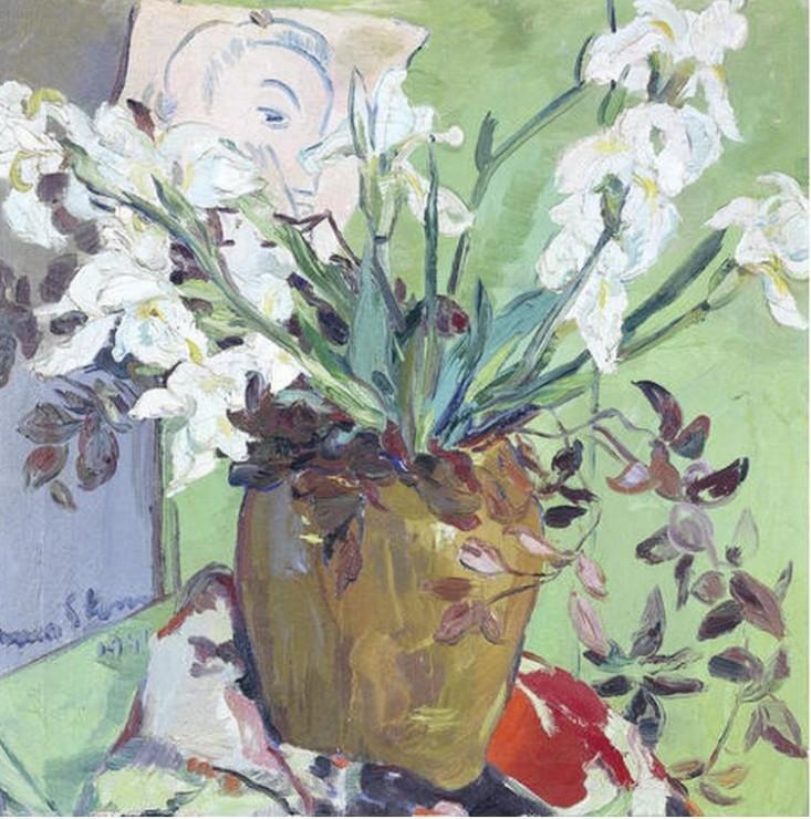 lilithsplace: 'Still life with White Irises', 1941 - Irma Stern (1894–1966)