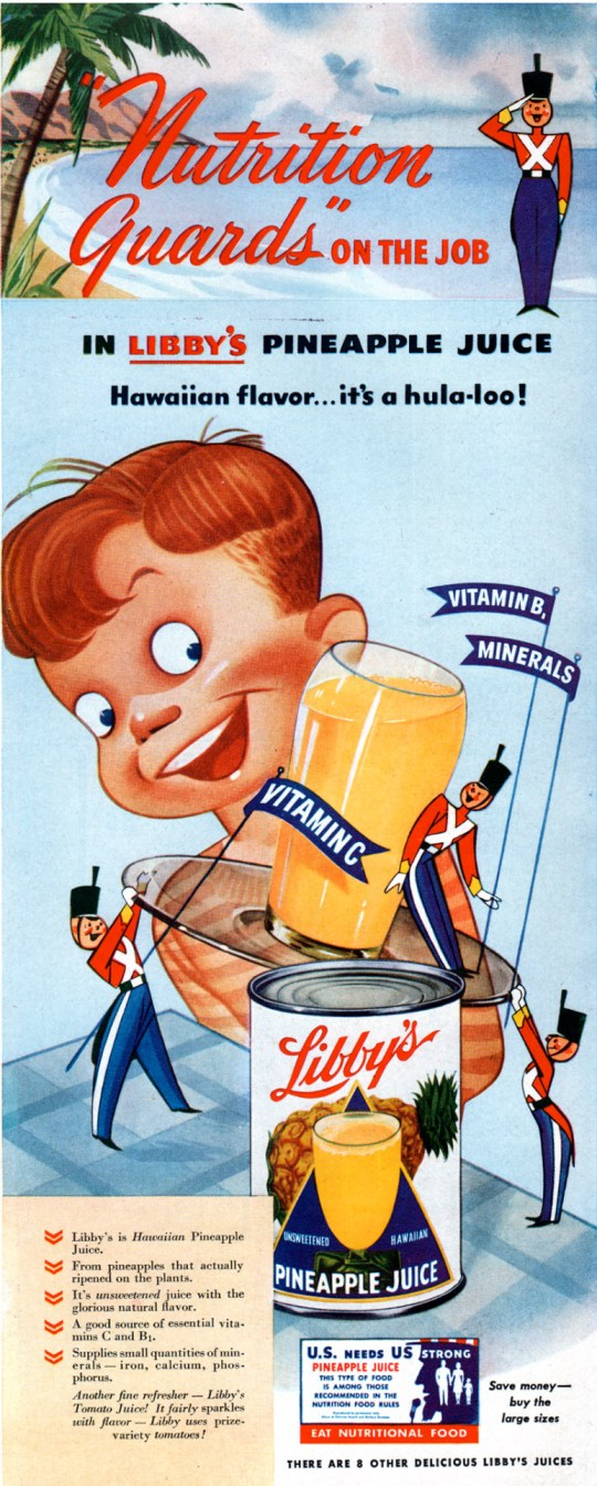 Libby's Pineapple Juice - 1942