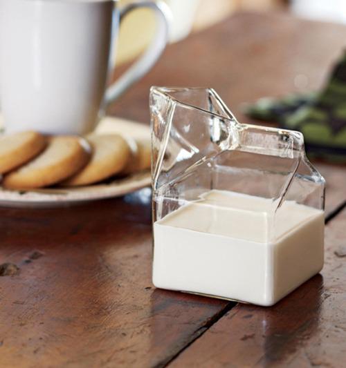 Glass carton of milk!