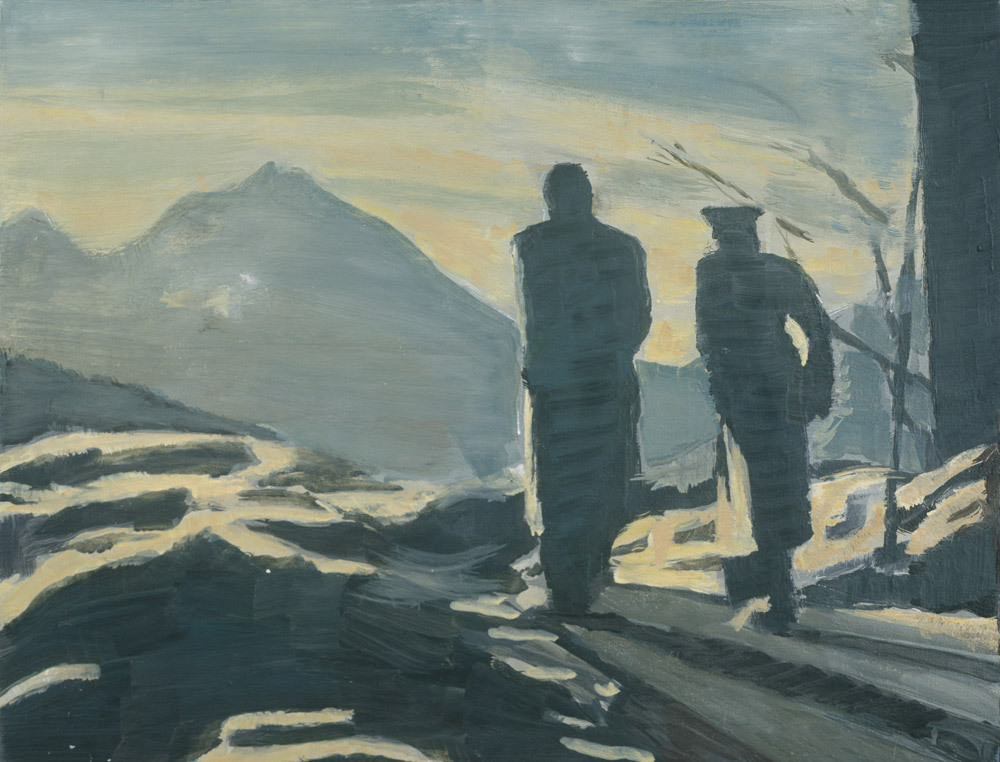 amare-habeo: Luc Tuymans (Belgian, born 1958) The Walk (De Wandeling), 1993 Oil on cnavas