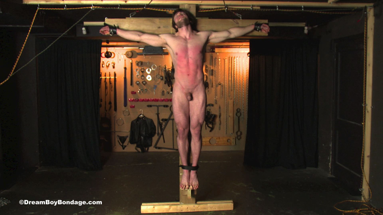For crucifixion bondage can