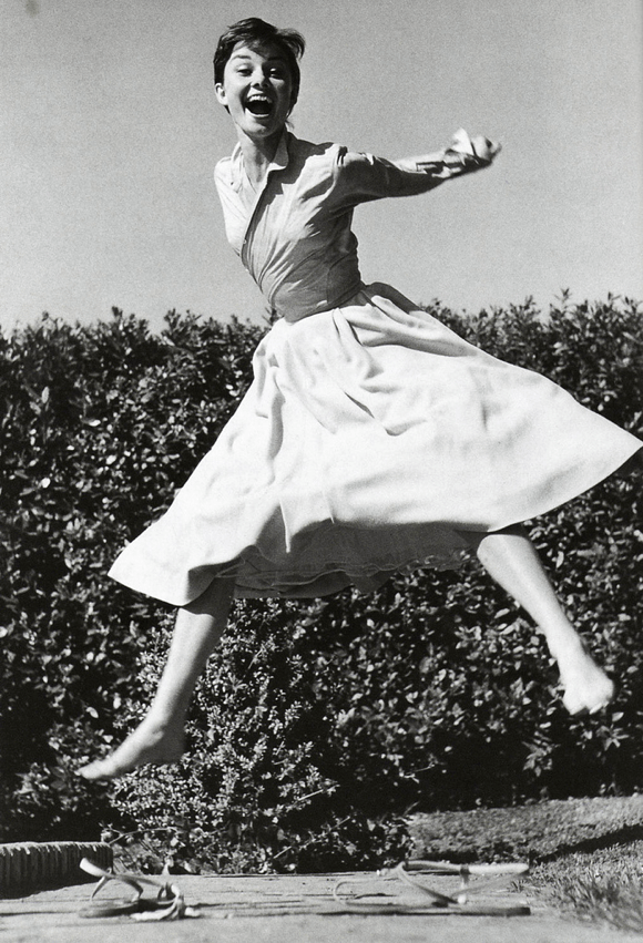 modcloth: Audrey Hepburn photographed by Philippe Halsman.