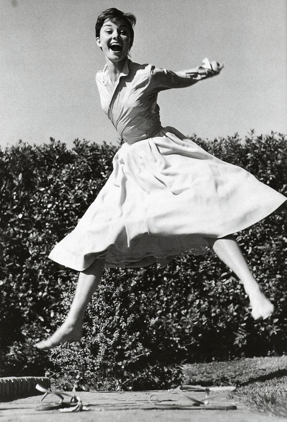 modcloth: Audrey Hepburn photographed by Philippe Halsman.