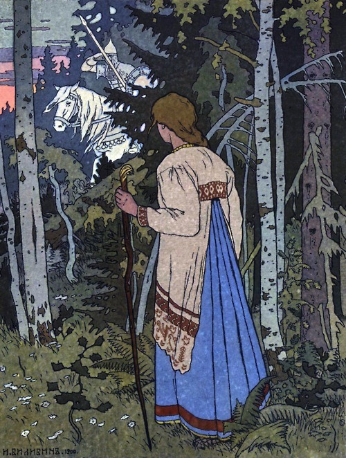 artmagichearthappening: Ivan Bilibin - Illustration for the tale 'Vasilisa the Beautiful', 1900