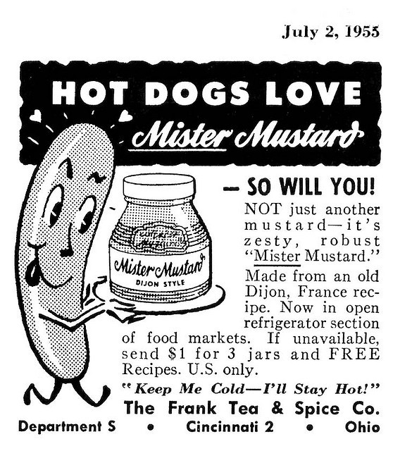 Mister Mustard - The Frank Tea and Spice Company - 1953