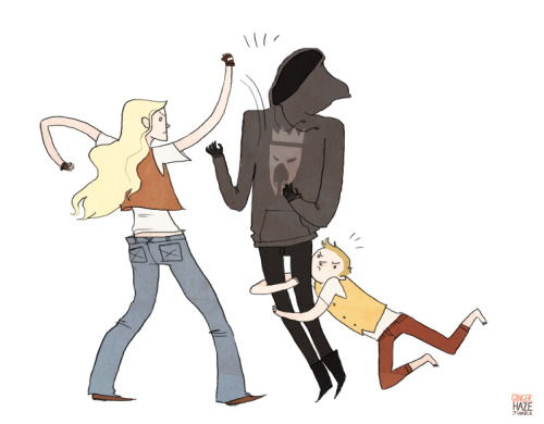 Eowyn slaying the Witch King (and Merry helping) - Broship style, in honor of National Hobbit Day! Oof, it's been too long since I've drawn these guys.