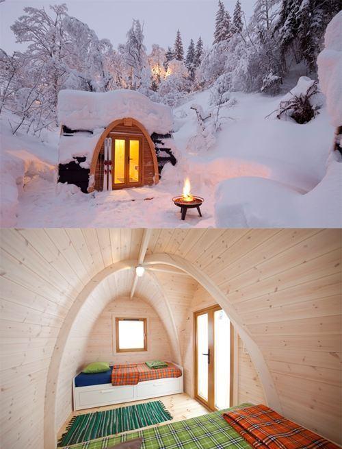 Small Snow Cabin