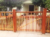 installed gate & fruit crate