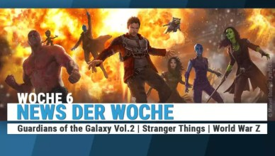 Die Helden von Guardians of the Galaxy Vol. 2 posieren vor einer gewaltigen Explosion