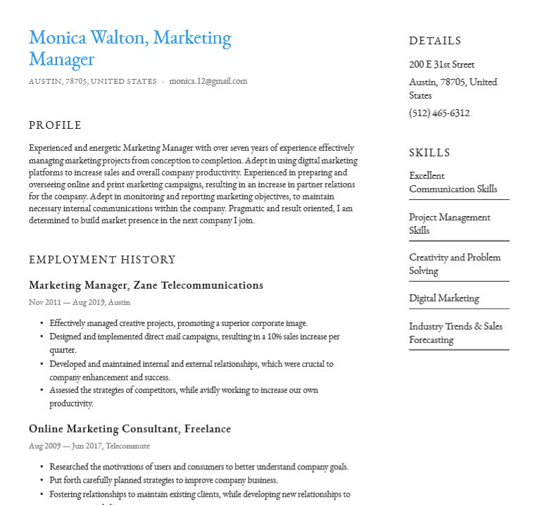 Clean layout with smooth animation and fully responsive. Basic Or Simple Resume Templates Word Pdf Download For Free
