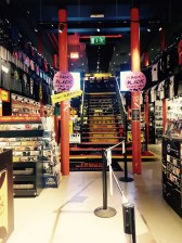 Tower Records, a record store, with a cafe on the top level