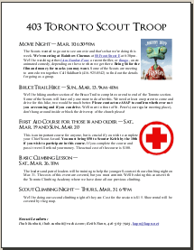 Scout Newsletter