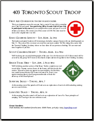 April 2011 Scout Newsletter