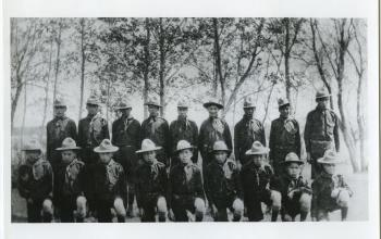 Indian Boy Scouts, File Hills Residential School, Sask. United Church of Canada Archives