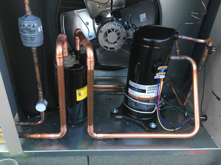 Condenser copper work