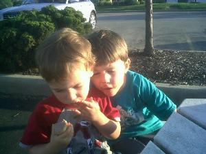 G & C Munching On Some Ice Cream